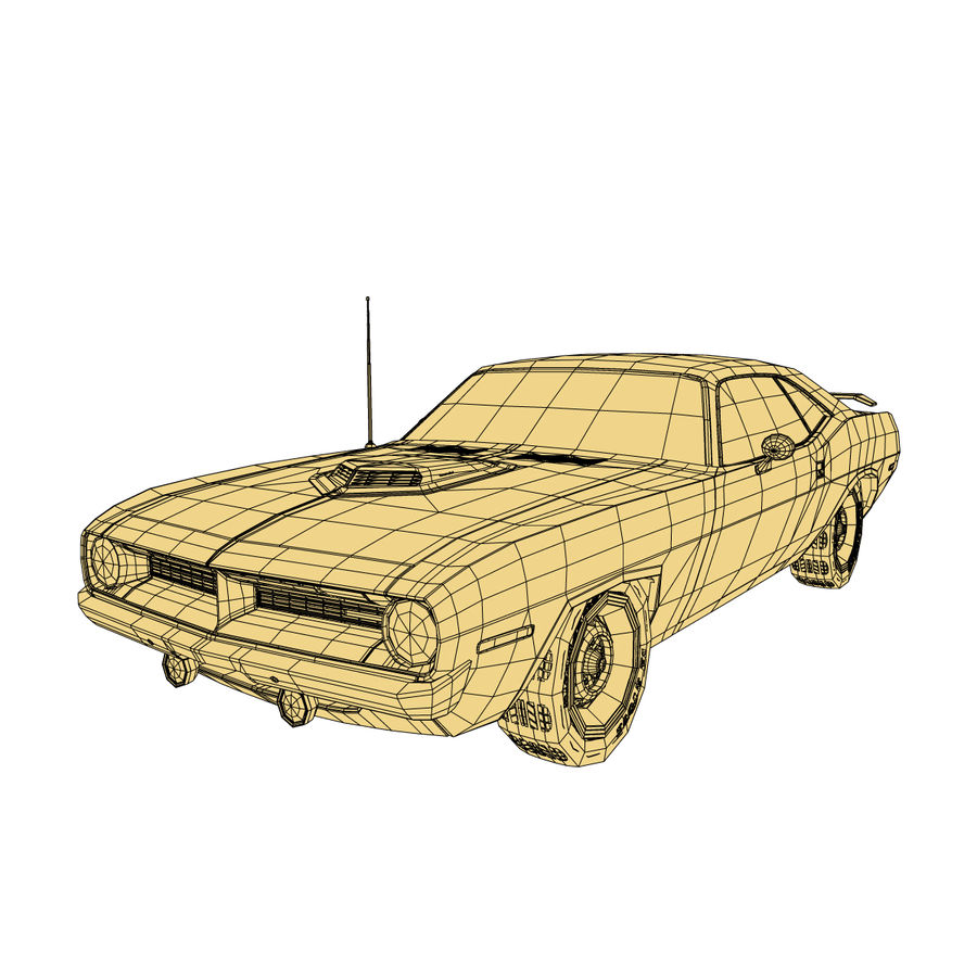Plymouth Barracuda 70 royalty-free 3d model - Preview no. 10