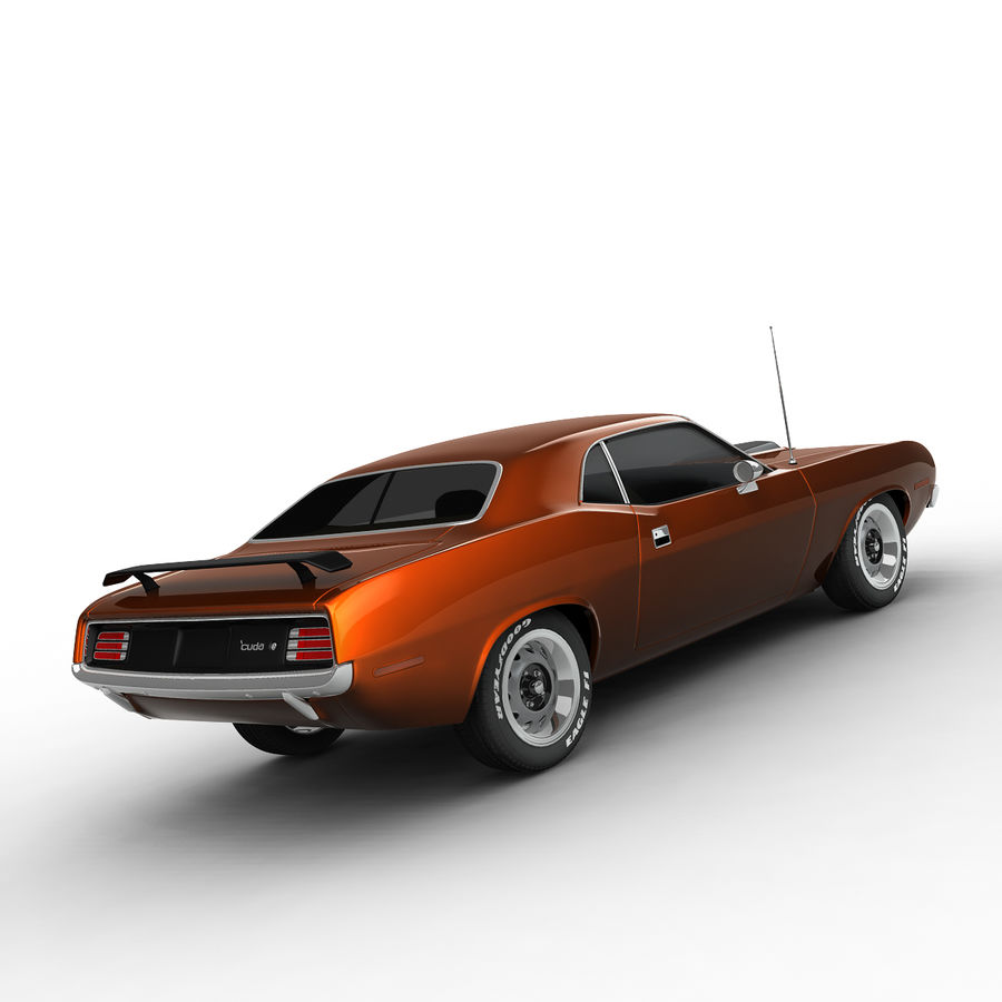 Plymouth Barracuda 70 royalty-free 3d model - Preview no. 6