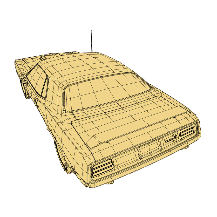 Plymouth Barracuda 70 royalty-free 3d model - Preview no. 11