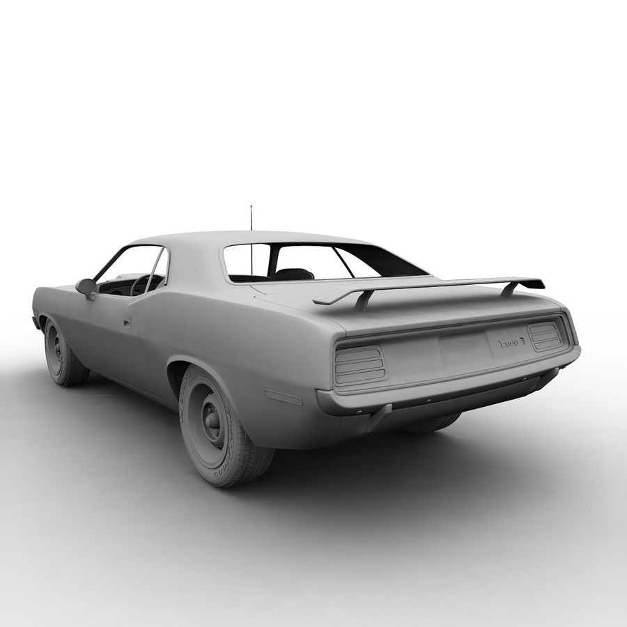 Plymouth Barracuda 70 royalty-free 3d model - Preview no. 9