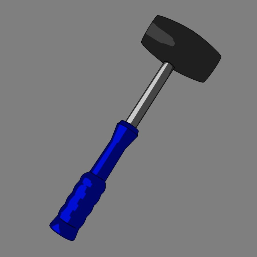 Rubber Mallet royalty-free 3d model - Preview no. 9