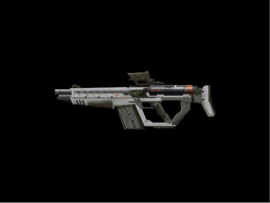 Rail Gun Rifle royalty-free 3d model - Preview no. 2