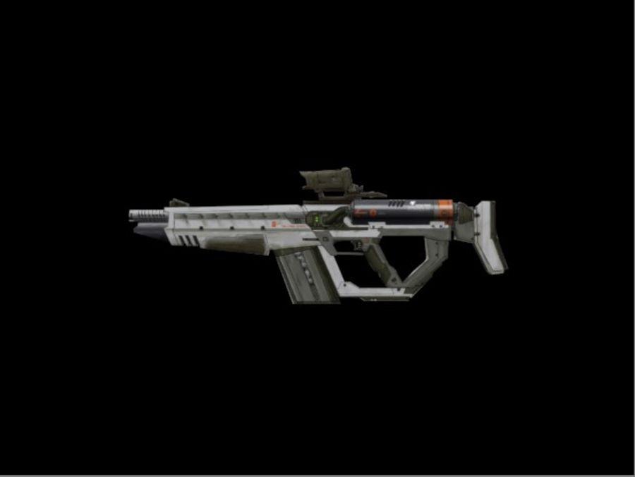 Rail Gun Rifle royalty-free 3d model - Preview no. 3