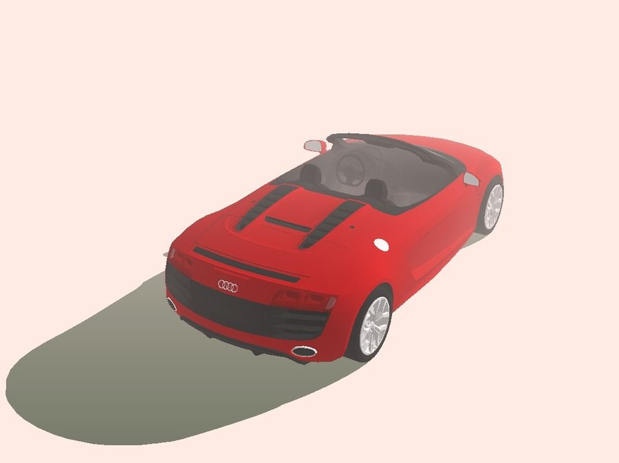 2008 Audi R8 Spyder (1) royalty-free 3d model - Preview no. 4