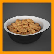 Serving Bowl With Breaded Nuggets 3d model
