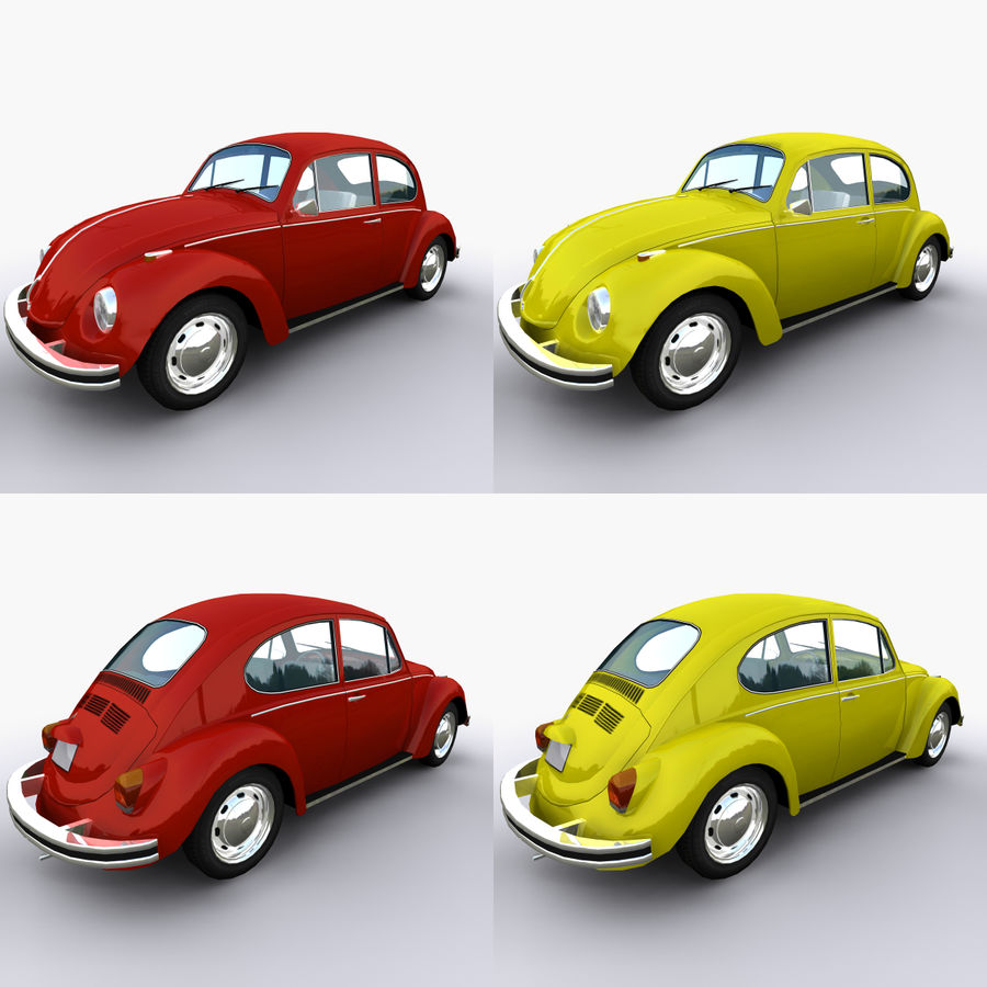 VW Beetle 1302 royalty-free 3d model - Preview no. 5