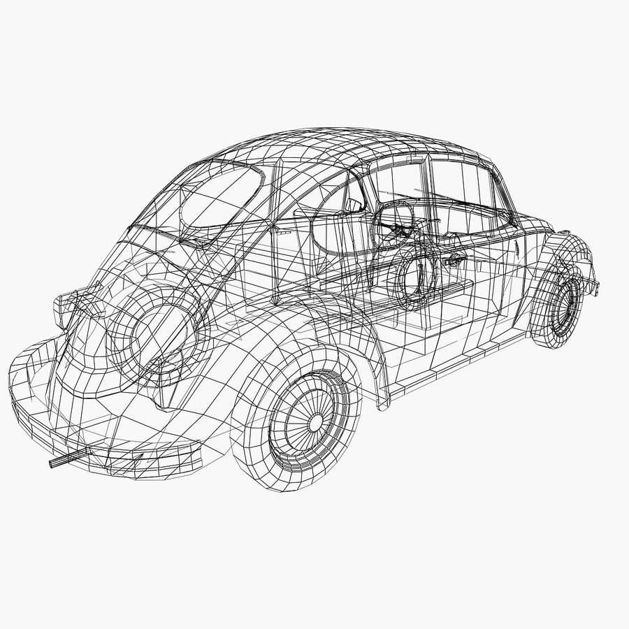 VW Beetle 1302 royalty-free 3d model - Preview no. 7