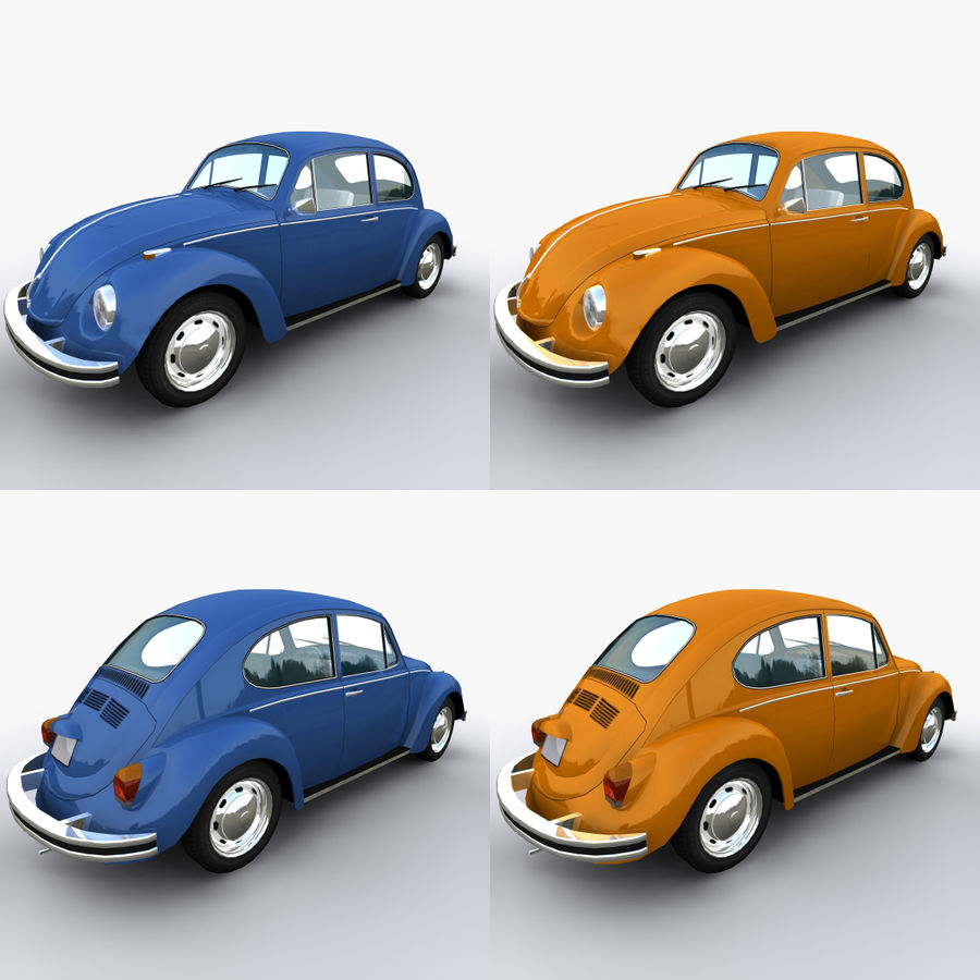 VW Beetle 1302 royalty-free 3d model - Preview no. 4