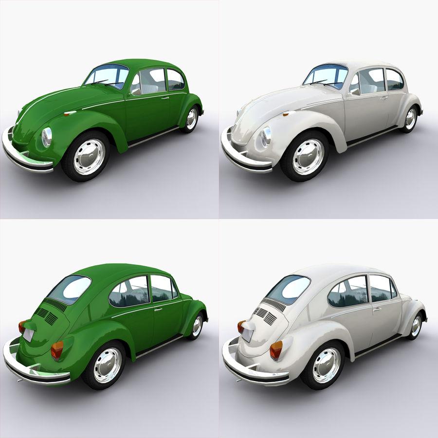 VW Beetle 1302 royalty-free 3d model - Preview no. 3