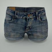 牛仔裤热裤 3d model