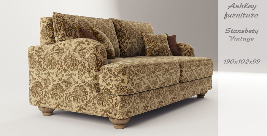 Ashley Furniture , Stansberry-Vintage royalty-free 3d model - Preview no. 2