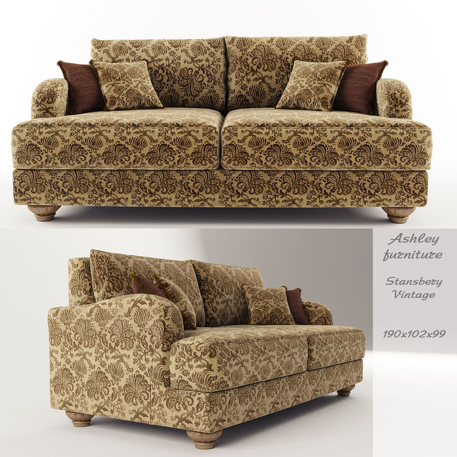 Ashley Furniture , Stansberry-Vintage royalty-free 3d model - Preview no. 1
