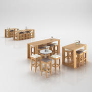 Restaurangbord 3d model