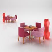 Textile armchairs 3d model