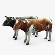 Низкополигональная корова 3d model