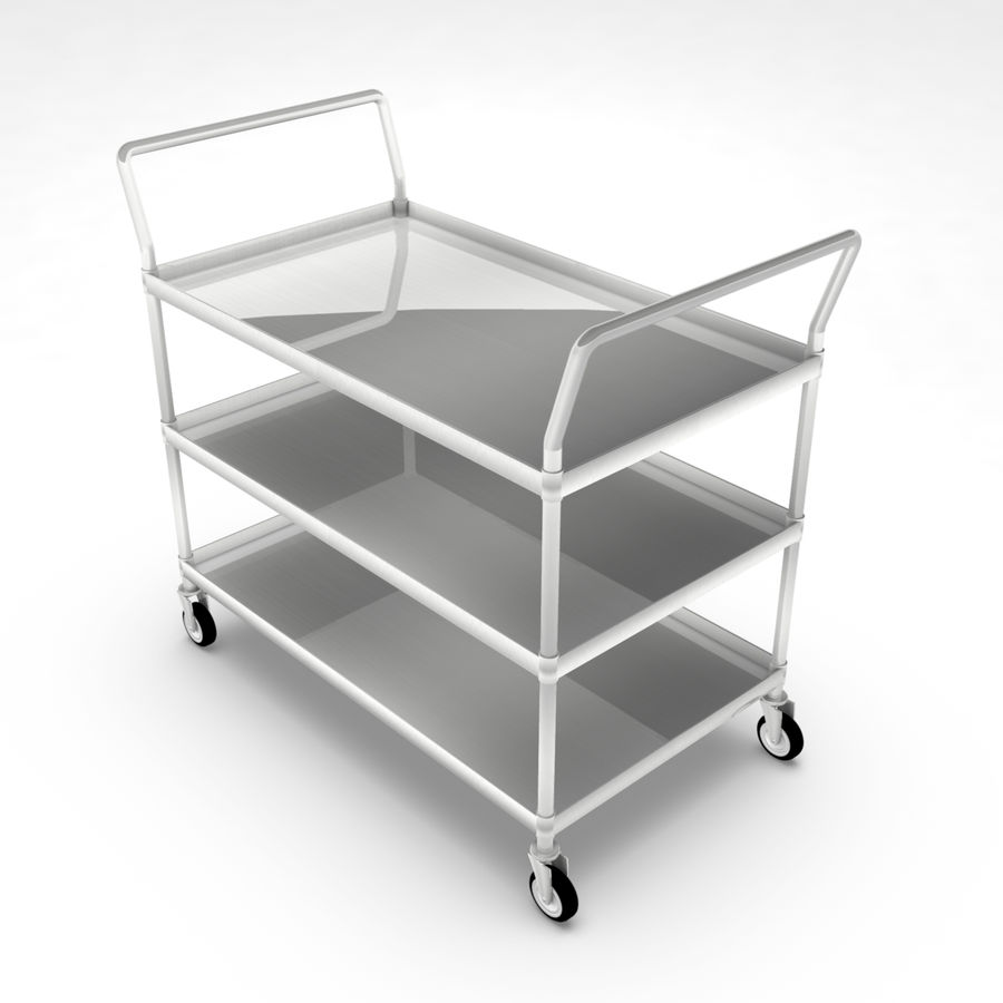 Hospital Cart royalty-free 3d model - Preview no. 1