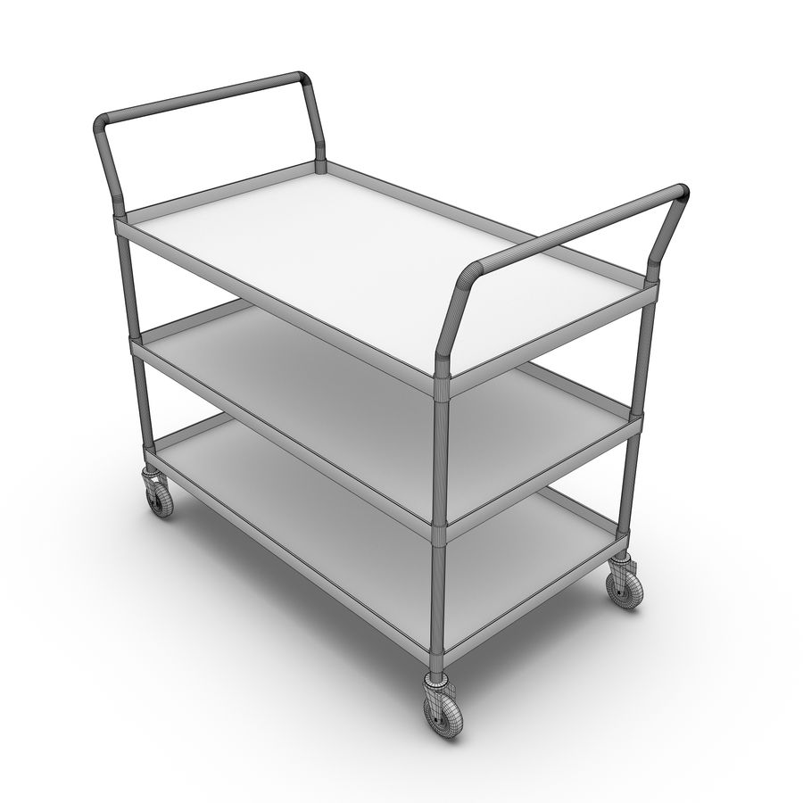Hospital Cart royalty-free 3d model - Preview no. 2