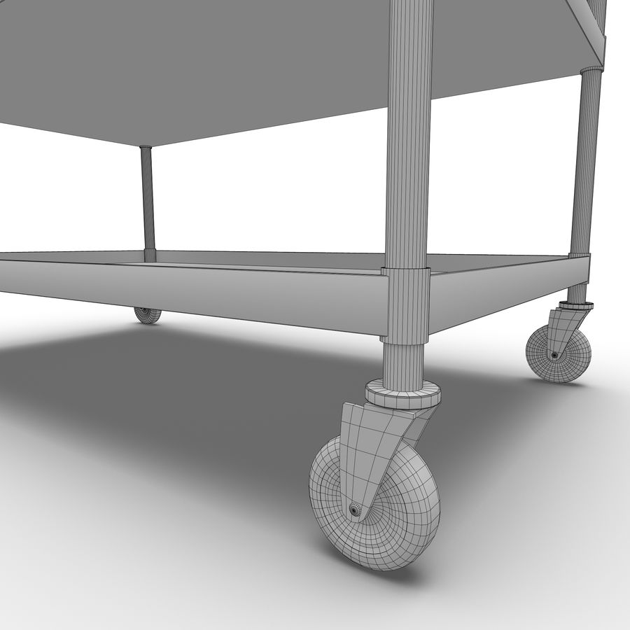 Hospital Cart royalty-free 3d model - Preview no. 6
