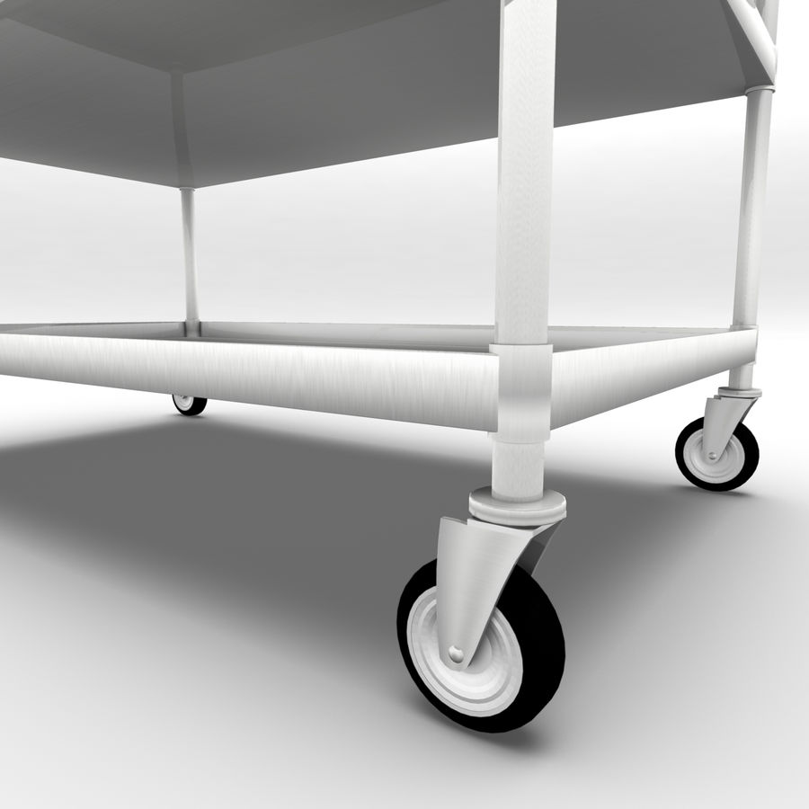 Hospital Cart royalty-free 3d model - Preview no. 5