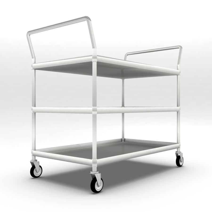 Hospital Cart royalty-free 3d model - Preview no. 3