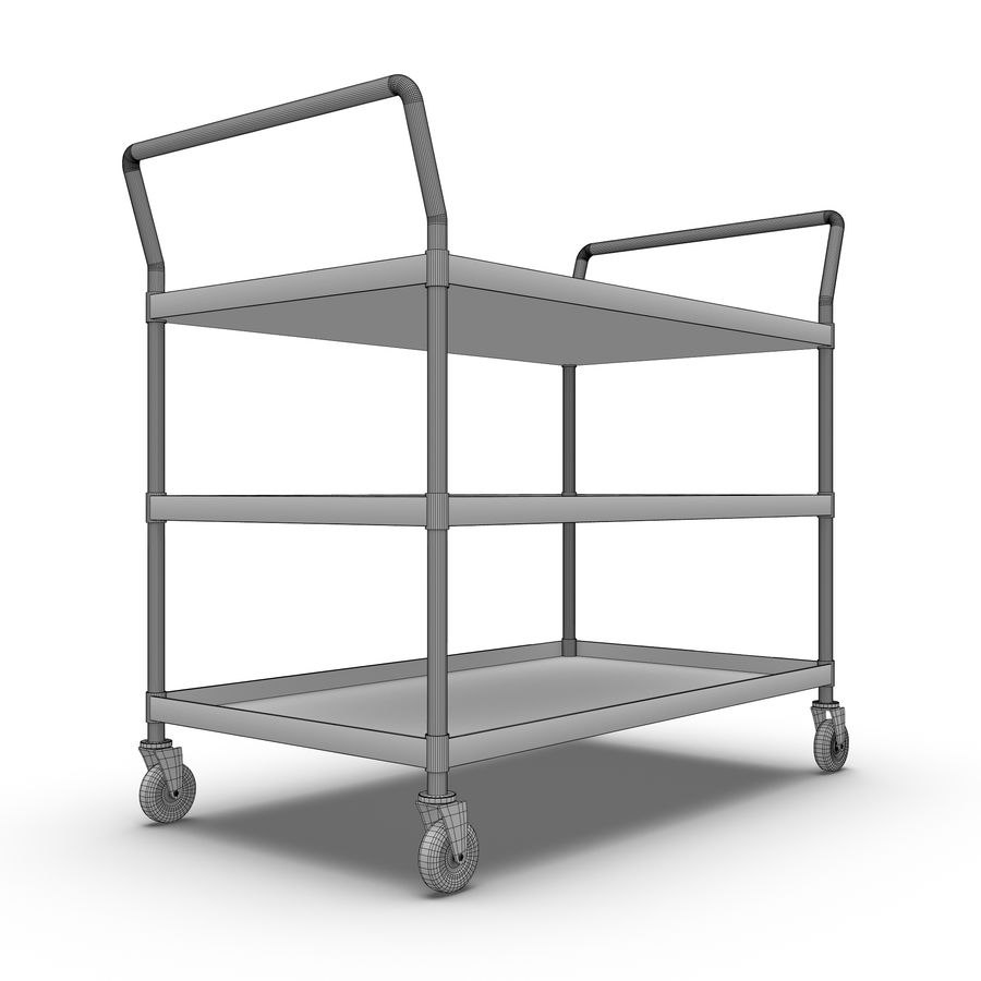 Hospital Cart royalty-free 3d model - Preview no. 4