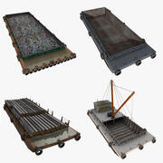 Barge Cargo Collection 3d model