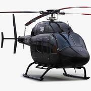 Helikopter Bell 429 Czarny 3d model