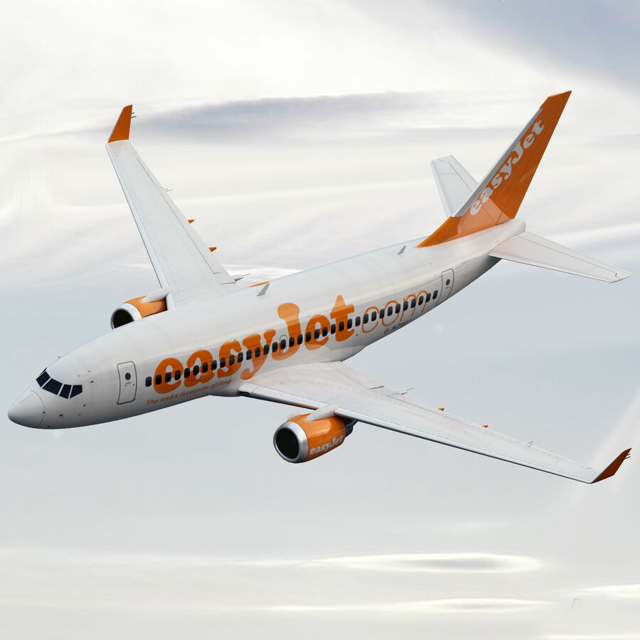 Boeing 737-800 EasyJet royalty-free 3d model - Preview no. 2