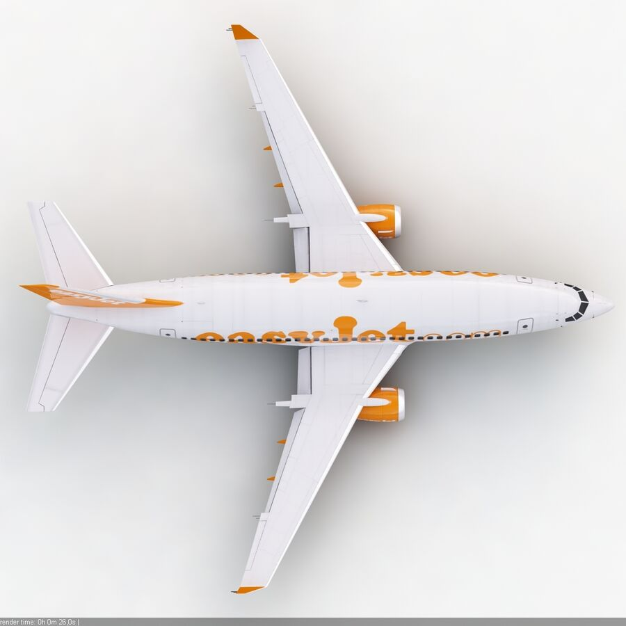 Boeing 737-800 EasyJet royalty-free 3d model - Preview no. 11