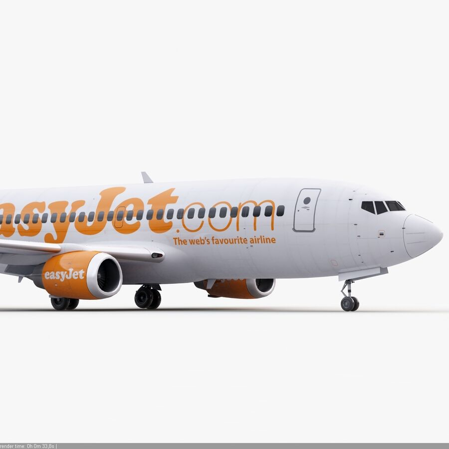 Boeing 737-800 EasyJet royalty-free 3d model - Preview no. 10