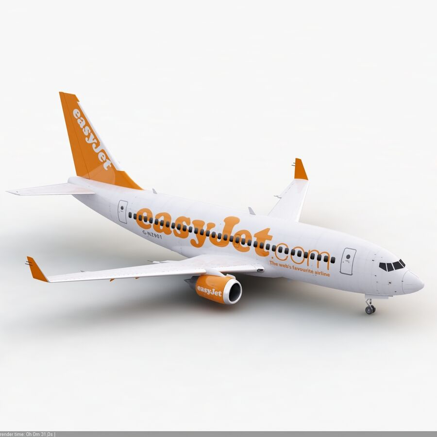 Boeing 737-800 EasyJet royalty-free 3d model - Preview no. 8