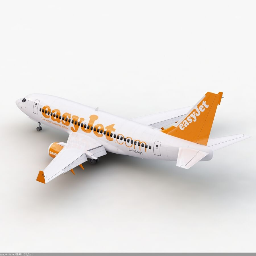 Boeing 737-800 EasyJet royalty-free 3d model - Preview no. 6
