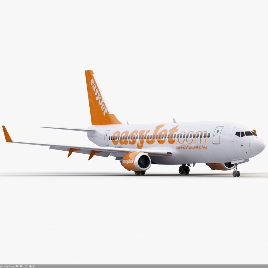 Boeing 737-800 EasyJet royalty-free 3d model - Preview no. 9