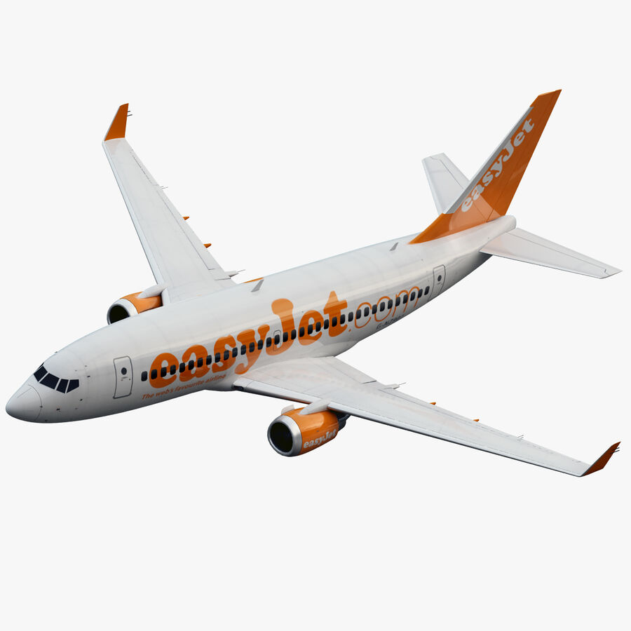 Boeing 737-800 EasyJet royalty-free 3d model - Preview no. 1