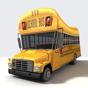 Мультяшный школьный автобус 3d model