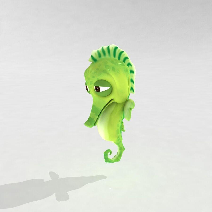 Cavalo-marinho vibrante de desenho animado royalty-free 3d model - Preview no. 8