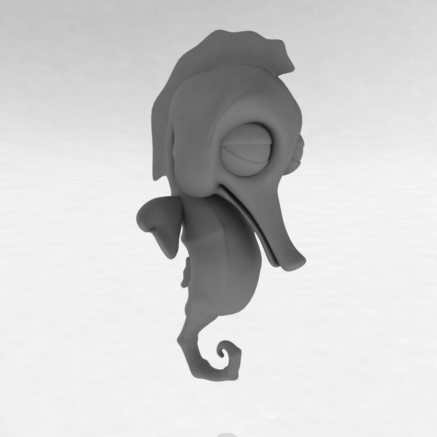 Cavalo-marinho vibrante de desenho animado royalty-free 3d model - Preview no. 23