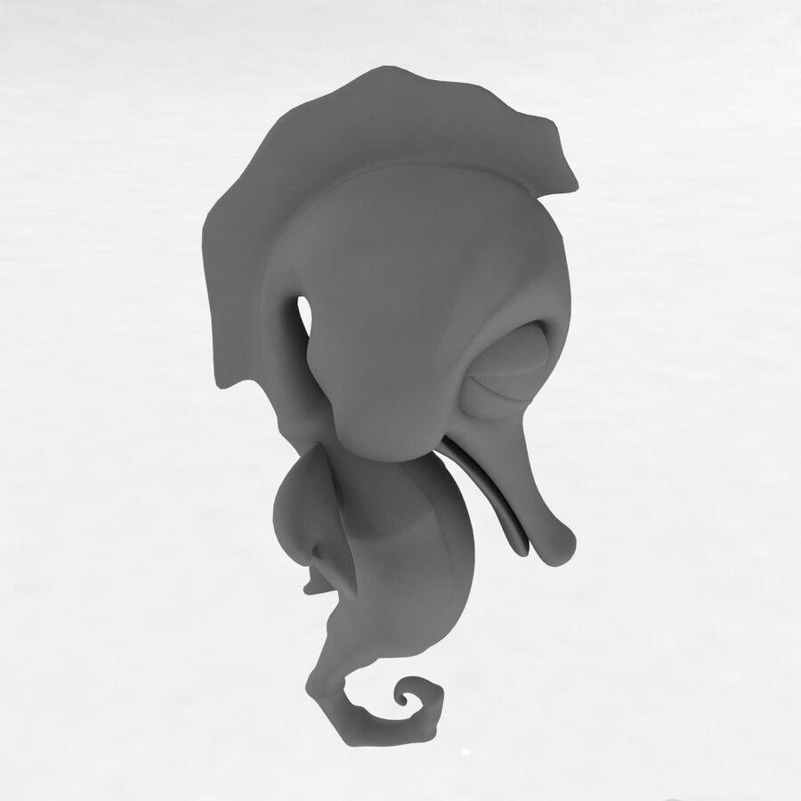 Cavalo-marinho vibrante de desenho animado royalty-free 3d model - Preview no. 26