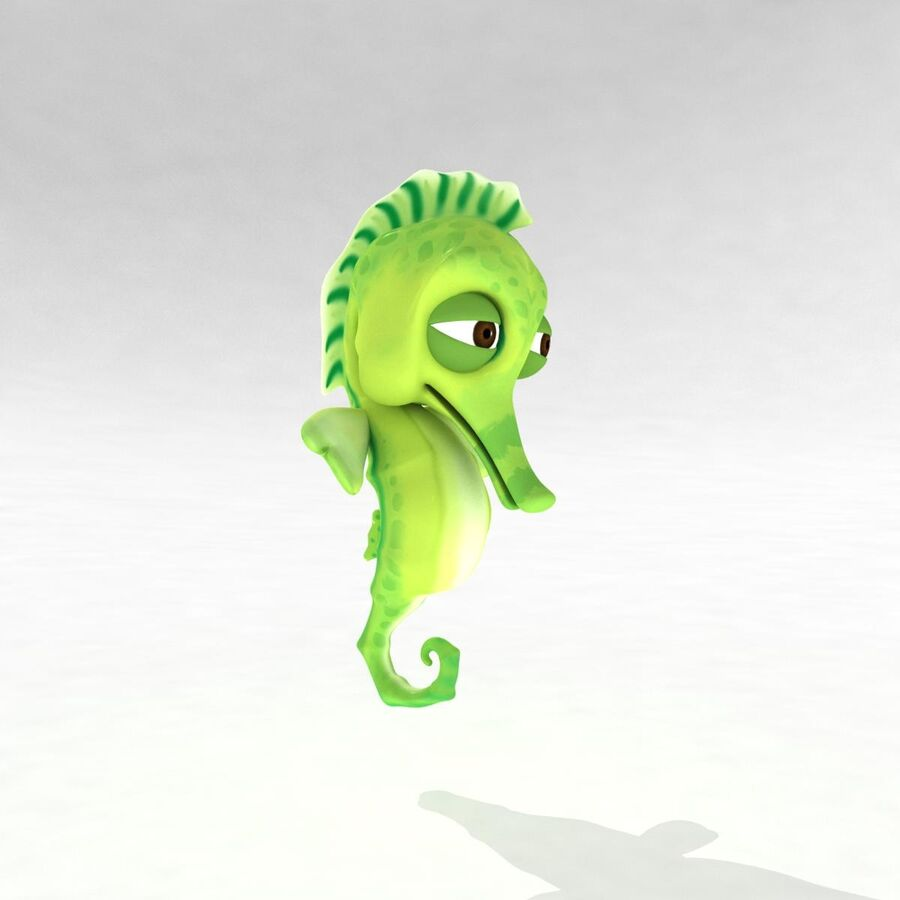 Cavalo-marinho vibrante de desenho animado royalty-free 3d model - Preview no. 13