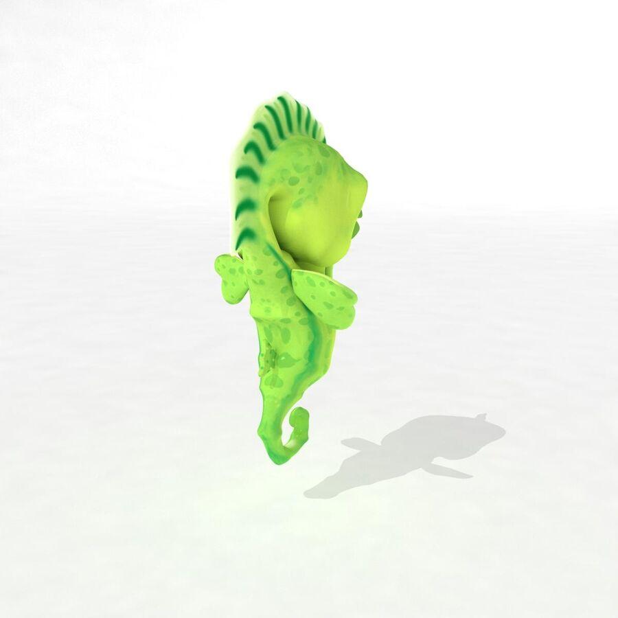 Cavalo-marinho vibrante de desenho animado royalty-free 3d model - Preview no. 10