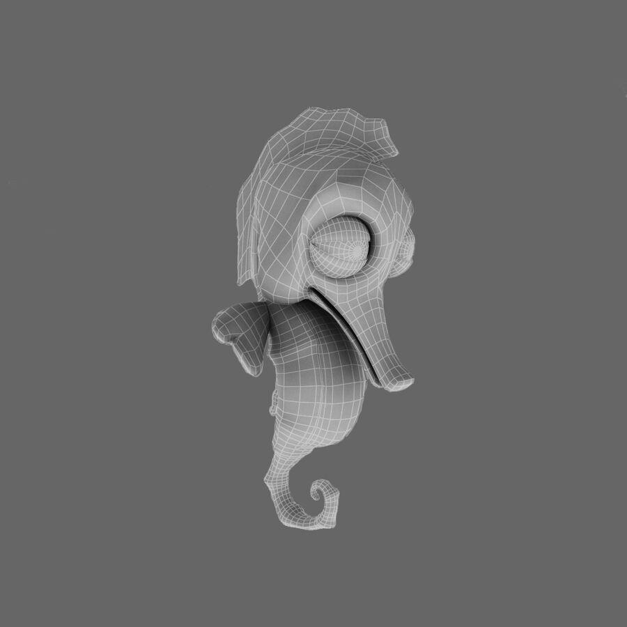 Cavalo-marinho vibrante de desenho animado royalty-free 3d model - Preview no. 27