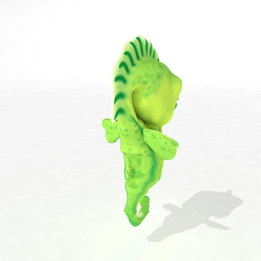 Cavalo-marinho vibrante de desenho animado royalty-free 3d model - Preview no. 12