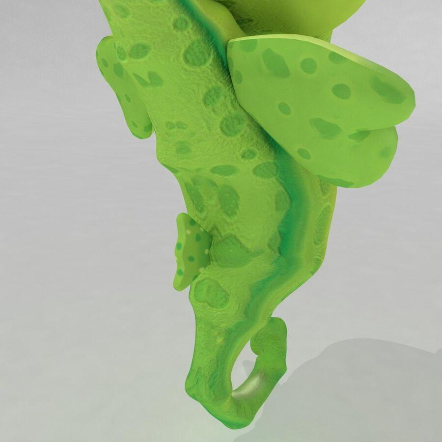 Cavalo-marinho vibrante de desenho animado royalty-free 3d model - Preview no. 5
