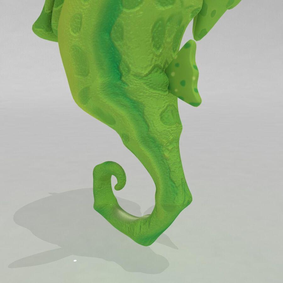 Cavalo-marinho vibrante de desenho animado royalty-free 3d model - Preview no. 7