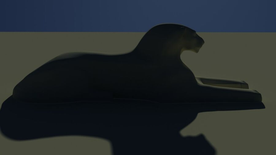 Lion Sphinx royalty-free 3d model - Preview no. 2