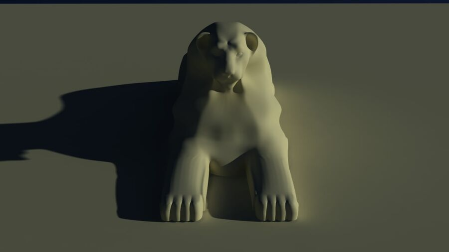 Lion Sphinx royalty-free 3d model - Preview no. 4