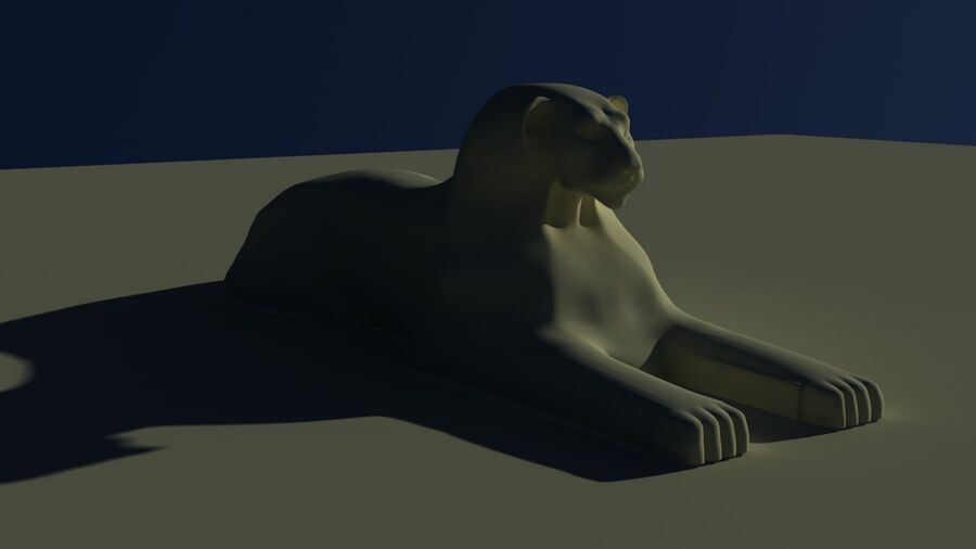 Lion Sphinx royalty-free 3d model - Preview no. 3