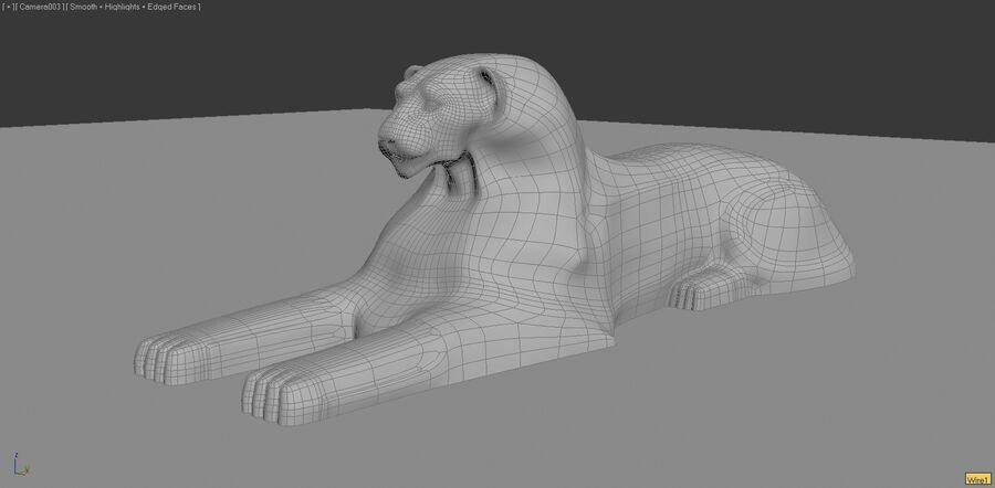 Lion Sphinx royalty-free 3d model - Preview no. 7
