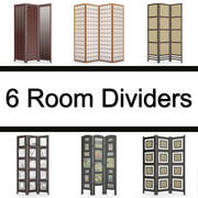 6 separadores de ambientes modelo 3d