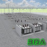 電気変電所 3d model